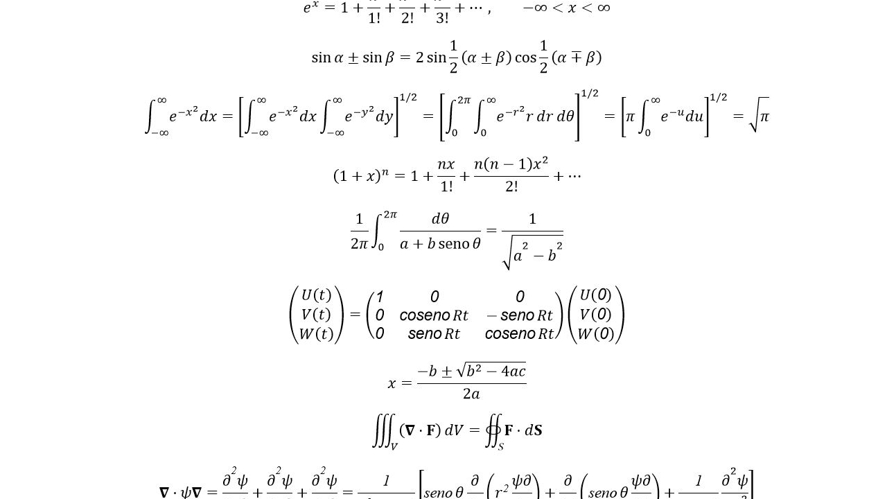 Ecuaciones insertadas en Word