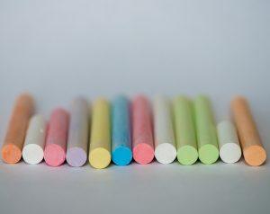 Tizas nuevas de colores