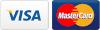 Logotipos de las tarjetas VISA y MasterCard